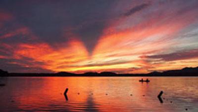 Mountain-lake Sunset on Lake Clear
